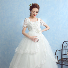Buy Elegant Wedding Dresses Short Sleeve 2017 New White/Ivory Ball Gown Princess Formal Dress Vestidos De Novia Bridal Gown for $80.09 in AliExpress store