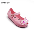 Mini Melissa Cat Sandals 2017 Autumn Kids Shoes Girls Jelly Sandals Comfortable Melissa Princess Shoes Jelly