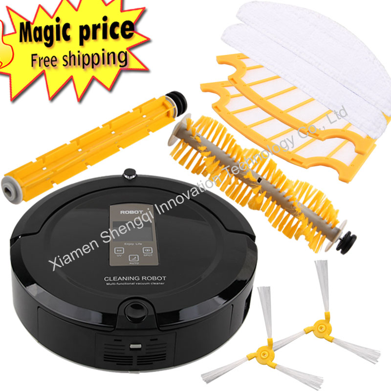 Multifunction Intelligent Robot Vacuum Cleaner with Sweep Vacuum Mop Sterilize LCD Touch Screen Schedule cleaner(China (Mainland))