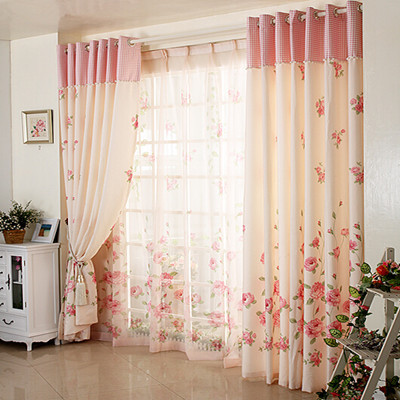 rustic curtain small floral print window curtains for bedroom curtain
