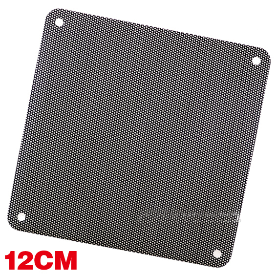 12cm computer case fan pvc dust-proof nets diy accessories single filter mesh(China (Mainland))
