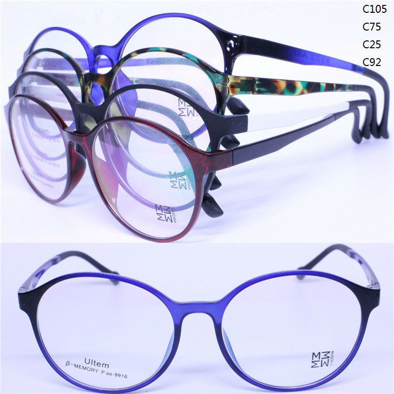 Ultra Lightweight Eyeglass Frames : Wholesale 9916 oval full rim with dual color temple ultra ...