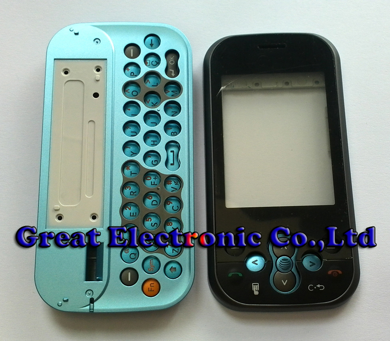Blue full replacement cellphone housing repair cover case for lg ks360 mobile phone body faceplate panel frame+keypad+parts(China (Mainland))