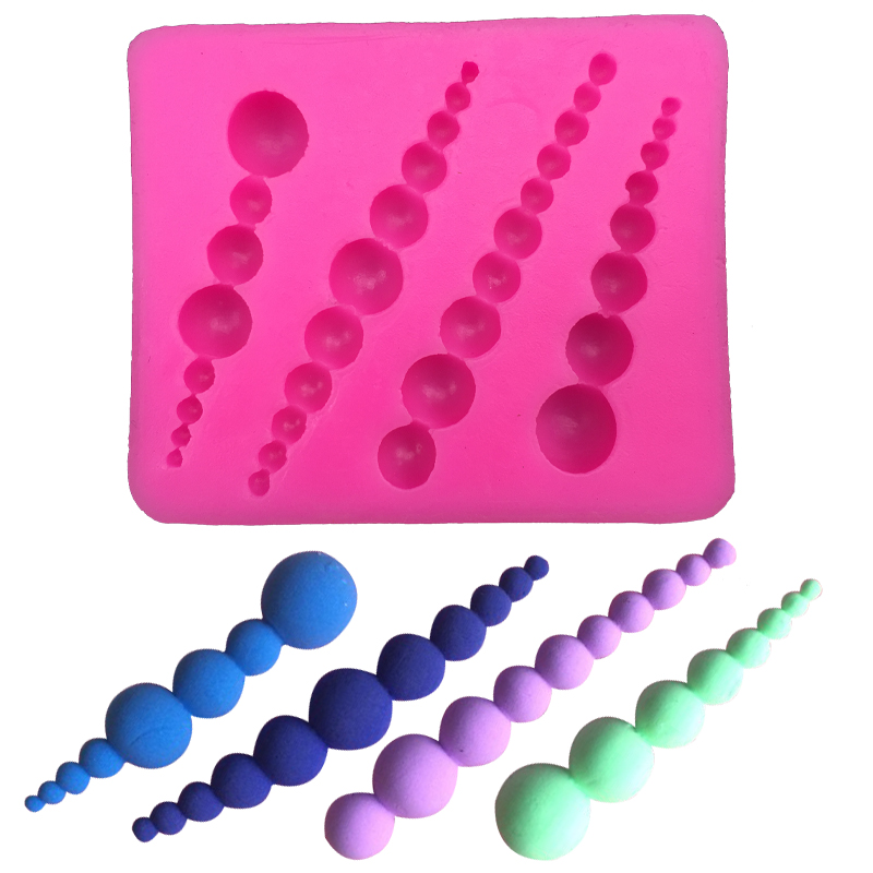 Free shipping Cake Decorating lace beads silicone mold ...