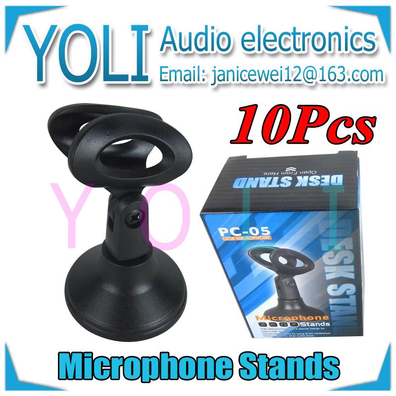 English Retail Box !! Wholesale 10Pcs/lot Desktop Circular seat Microphone Stand Plastic Mic Desk Stand For SM57 Beta58A Beta87A(China (Mainland))