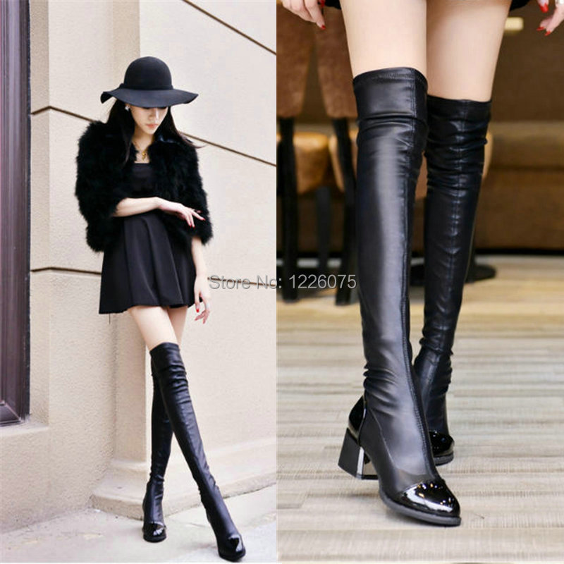 Mid Thigh High Boots - Cr Boot