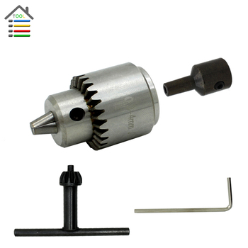 New Precision 0.3-4mm JTO Keyless Drill Chuck Set For Electric Motor Drill DIY Hand Chucks Fit Drill Shaft Diameter 5mm