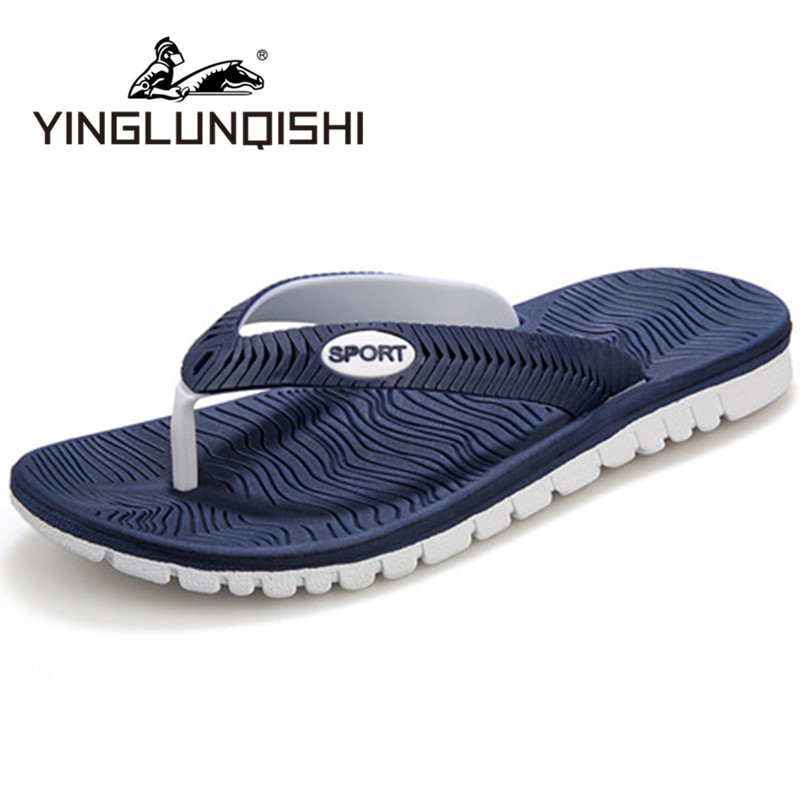 New Style Summer 2015 Flip Flops Men Casual Fashion Men Beach Shoes Massage Flip Flops Sapatos Femininos Blue Plus Size 45(China (Mainland))