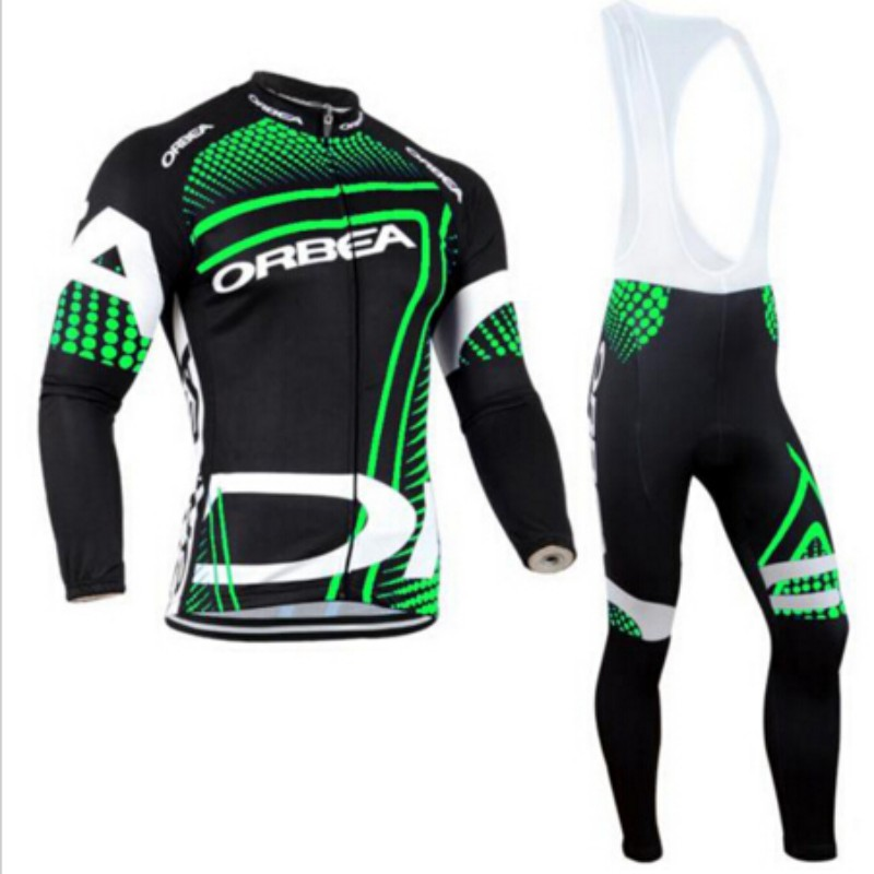 2015 ORBEA long-sleeved fluorescent green bike jersey jersey Ropa De Ciclismo bicycle gel pad breathable long-sleeved clothes(China (Mainland))