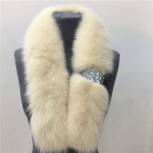 100% of the 2016 new products listed fashion warm natural fox fur more than warm scarf color bag mail