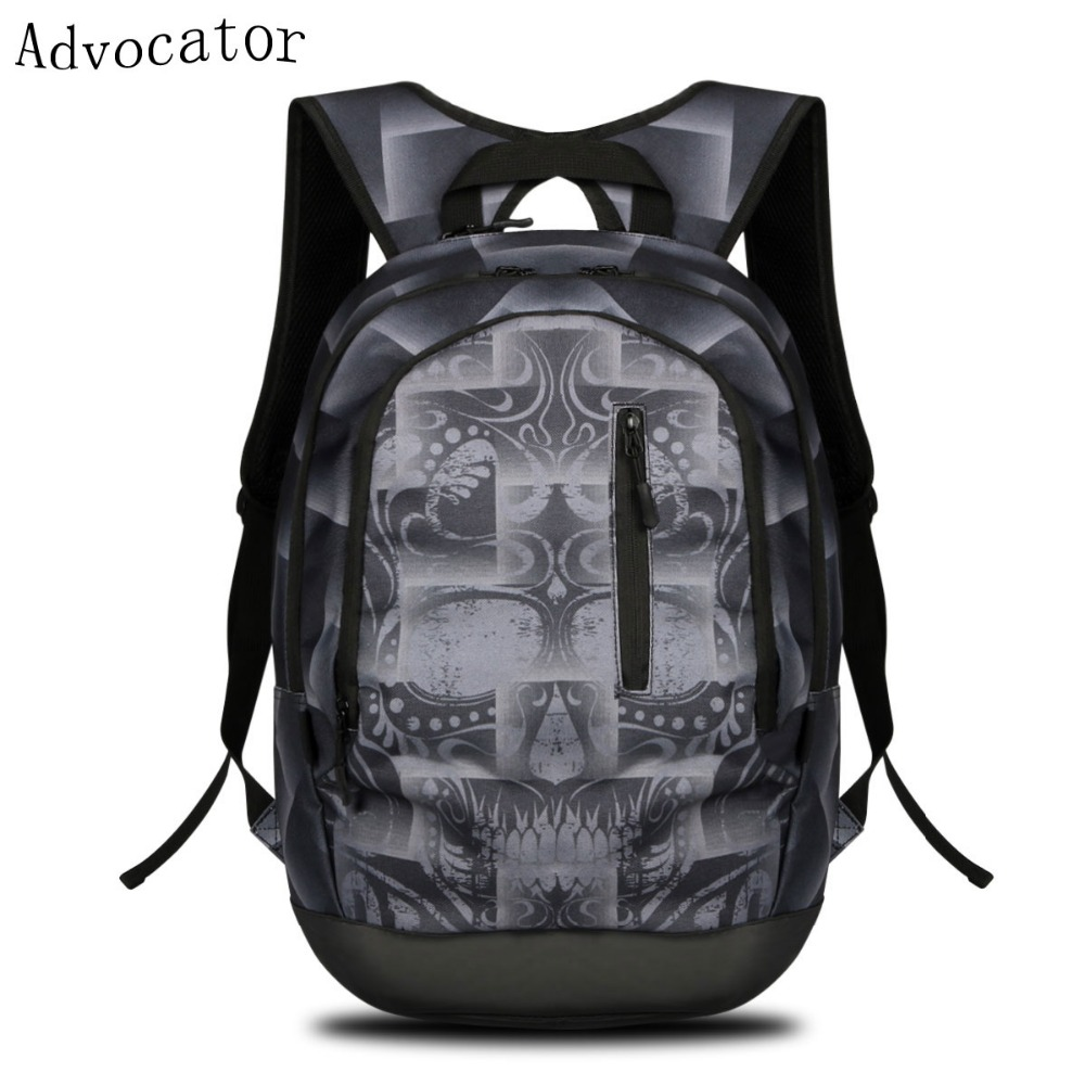 Large Capacity School Backpack Multifunction Laptop Backpack Printing Causal Outdoor Sport Backpack Travel Backpack 2 Options(China (Mainland))
