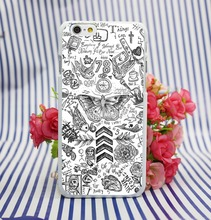 Harry Estilos De Tatuaje De One Direction White Hard Case Cover for iPhone 4 4s 5 5s 5c 6 6s plus