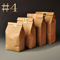 127 77 240mm 100pcs Hengxin Bread Sandwish Food Kraft Paper Bags Packaging For Cookies Bolsas De