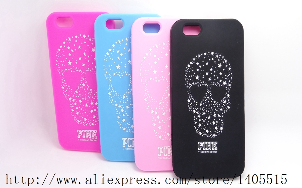 New Victoria/'s Secret Skull PINK Soft Silicone Case For