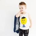 2016 Fashion Brand Children Girls Funny Cartoon Garfield T Shirt Boys Tops Kids Sleeveless Coton Vest