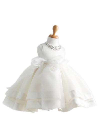 white sleeveless vestido children clothing Baby girls dress evening wedding party christmas flower girl dresses for kids 701008<br><br>Aliexpress