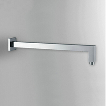 Buy 16' Square Wall mounted Chrome Polished Brass Rainfall Shower Arm G1/2 Connector HJ-0428K for $29.58 in AliExpress store