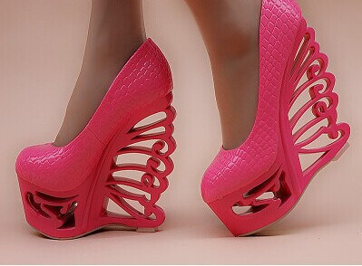 Sapato feminino preto plataforma saltos únicos 15 centímetros