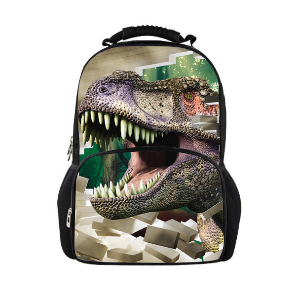 New Design Large Dinosaur School Backpacks for Children,Men's Outdoor Travel Bags Women Leopard Backpack,Fashion Animal Backpack(China (Mainland))