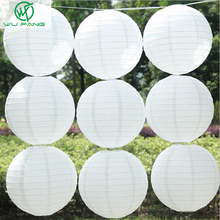 """10pcs 8"""" (20cm) White Chinese Round Paper Lanterns for Wedding Party Home Hanging lamps festival Decoration favor(China (Mainland))"""