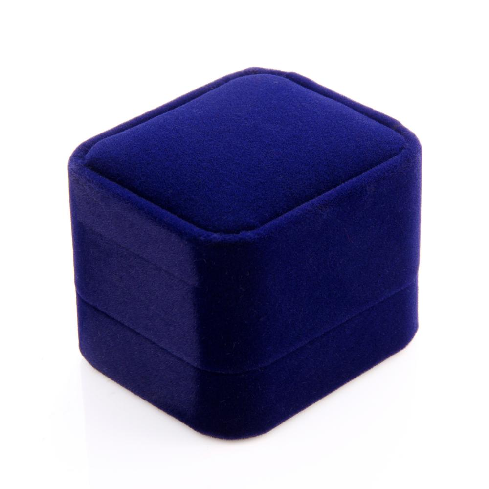 Blue color Gorgeous High Quality Velvet Earrings Ring Jewelry Gift Box Case, Jewelry packaging Size 6*5.2*4.5 cm(China (Mainland))