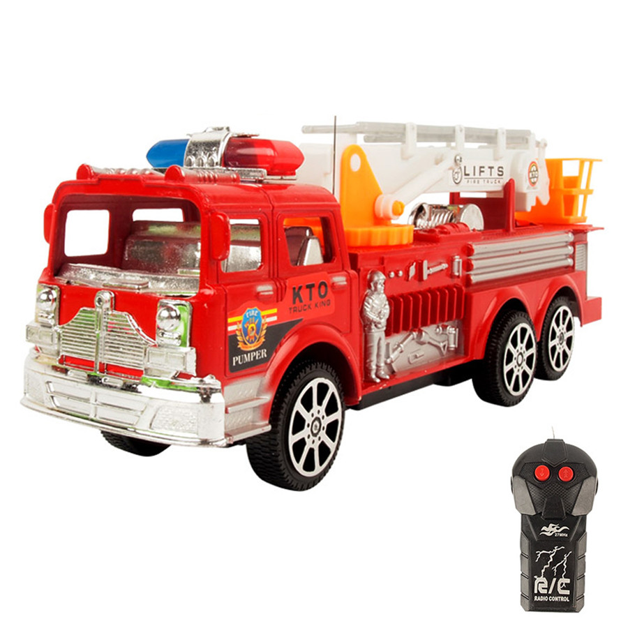 Kids fire engine fire ladder truck Simulation Electric Universal Musical Fire Engine Toys Educational toysFree shipping(China (Mainland))