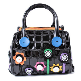 2015 Tottyblu Braccialini италия народного промысла и известны двойная молния кожа сращивание женщин плеча сумку женщины сумка сумка сумки сумки