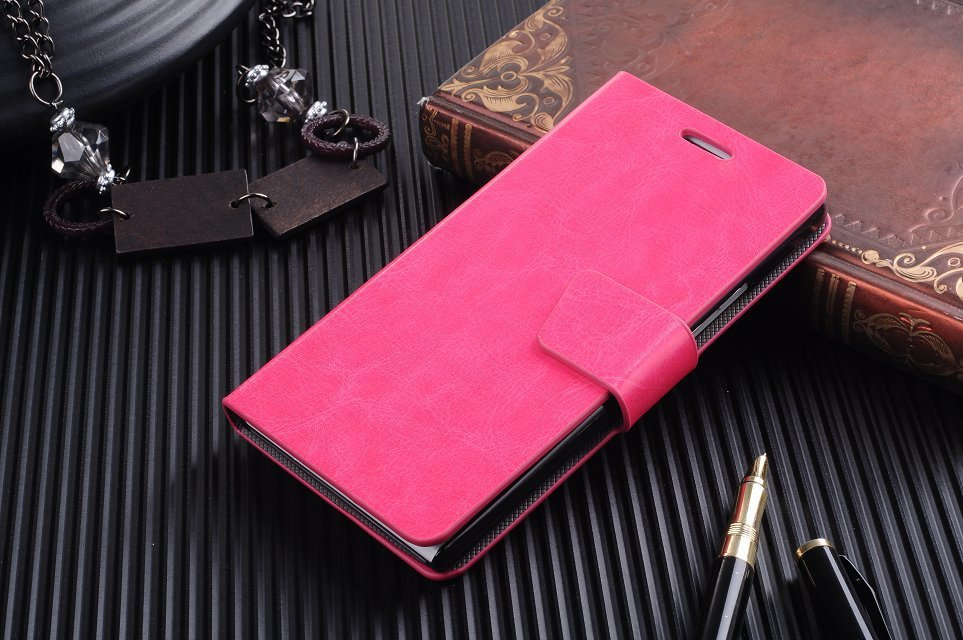 Hot Selling Simple Type Leather Wallet Style Case Huawei Ascend P6 Phone Covers ID Card Slot Stand Cover  -  TH-Store store