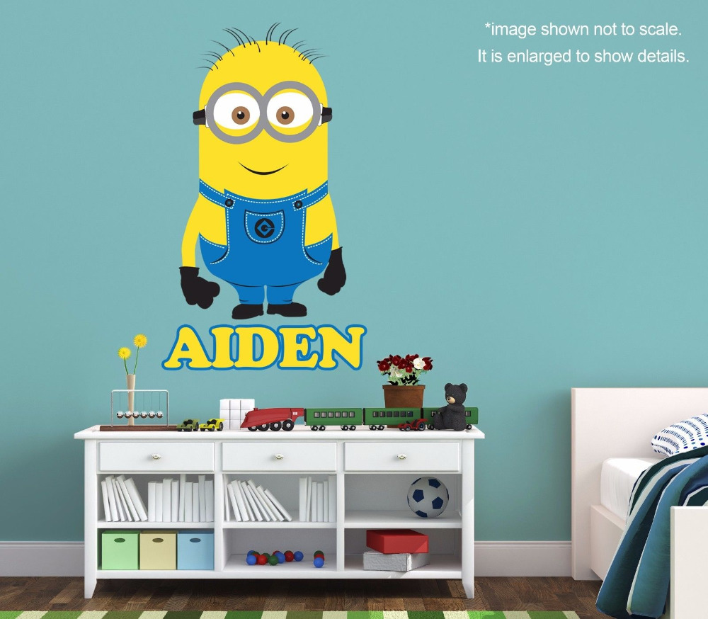 Personalized Minion Wall Decal (Removable and Replaceable) 30inX18in(China (Mainland))