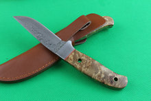 Newest Damascus fixed knife rescue tools 60HRC camping survival knives tactical Damascus steel blade hunting camping