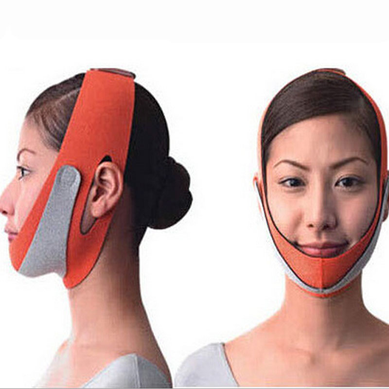 1 Pcs New Women Beauty Health Care Thin Face Mask Slimming Massage Double Chin Face Bandage Massager(China (Mainland))