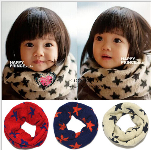 Christmas Gifts Hot Sale Baby Scarf Child Scarf Winter Warm Knit So Cute Kid Scarf Neck Warmer Wholesale/Retail Free Shipping(China (Mainland))