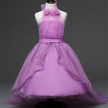 3 – 12 Year Retail Formal Flower Girls Clothes Baby Girl Bridesmaid Dresses Children Wedding Dress Show Party Dress Vestido 2016