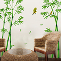 2pcs Green Bamboo Forest Wall Sticker Decorative Self adhesive Wall Decals DIY Home Decor Sticker for