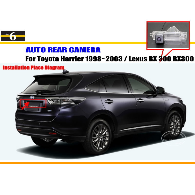 License Plate Light OEM / HD CCD Night Vision Car Rear Camera / Reverse Camera Toyota Harrier 1998~2003 / Lexus RX 300 RX300