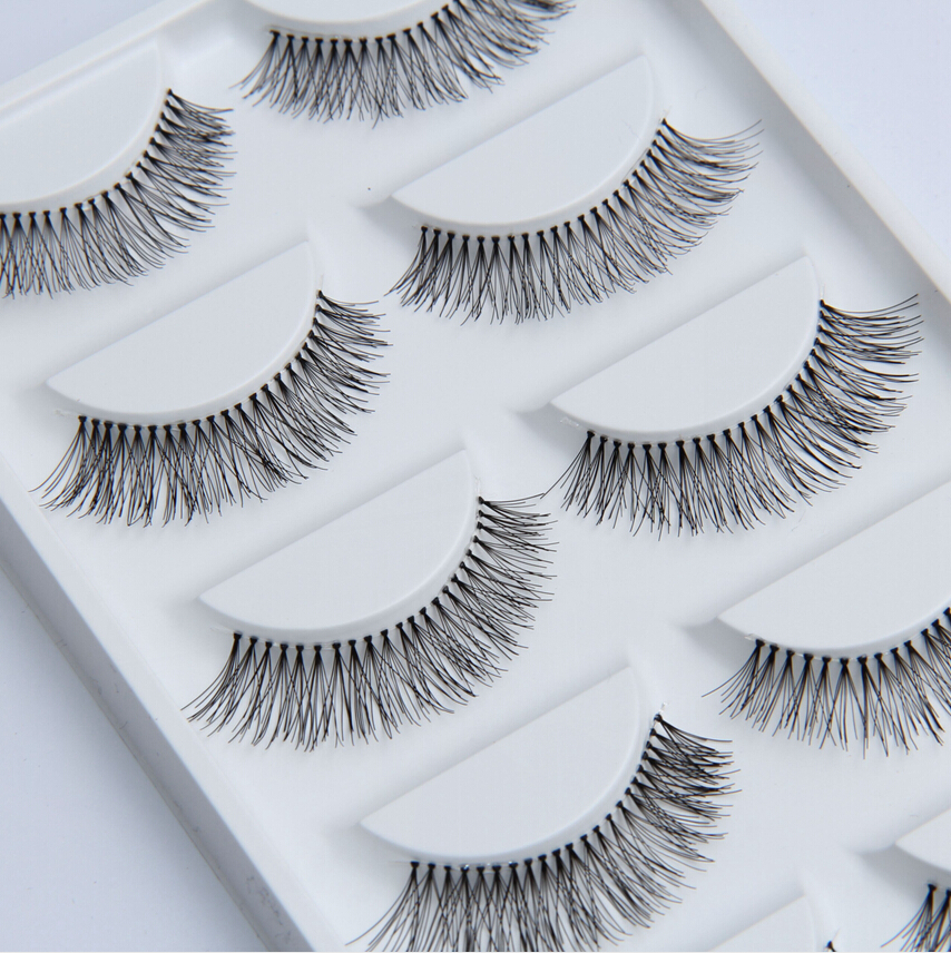Handmade 5 Pair Natural Long False Eyelashes Fake Eye Lashes Eyelash HW7(China (Mainland))