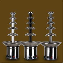 Бесплатная доставка 5-tier 80 см высокий коммерческий шоколадный фонтан фондю, Ну вечеринку фонтан, Свадьба водопад