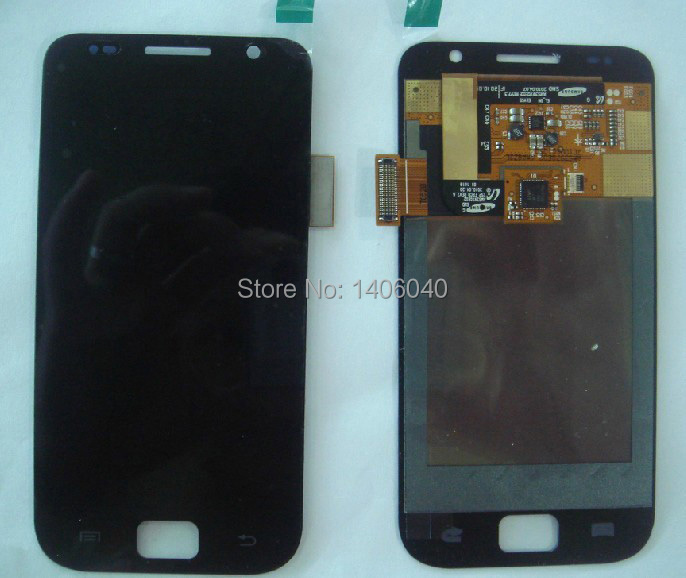 Black Cell Phone LCD Screen With Touch Screen Digitizer Assembly NO Frame For Galaxy S i9000(China (Mainland))