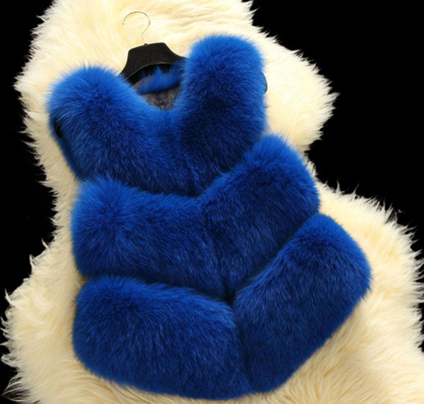 High Imitation Faux Fur Vest Coat Winter Women Warm Thick Jacket Short Pattern Solid Outwear FUR-3114(China (Mainland))