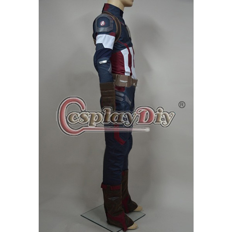 Age of Ultron Avengers Captain America Costume Steve Rogers Outfit Adult Men Halloween Cosplay Costume Custom