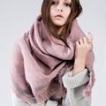 2016 Brand Women Scarf Tartan Winter Scarf For Female Wool Tassels Solid Fashion Shawl And Scarves