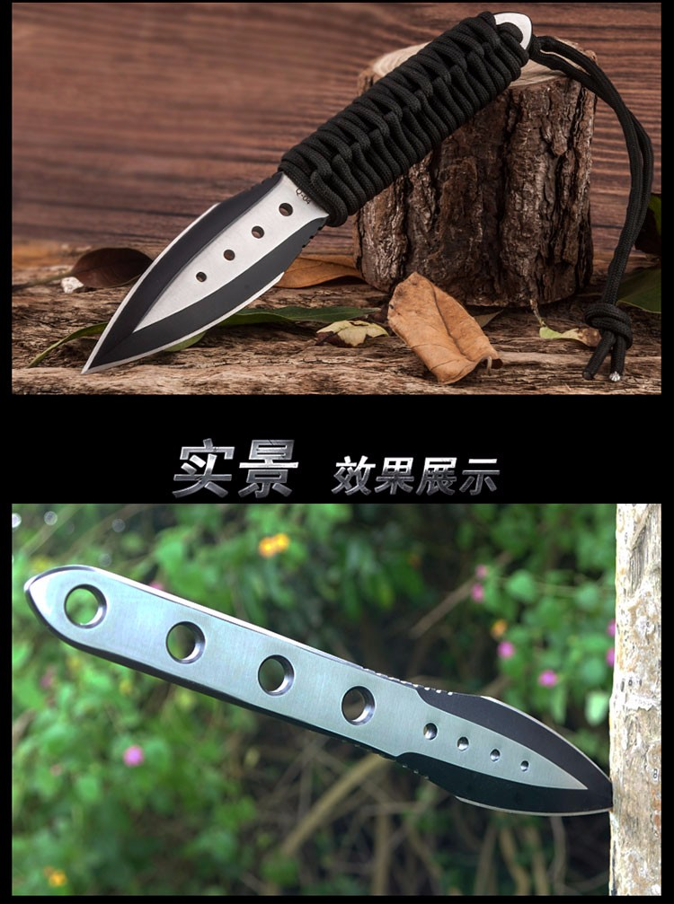 Buy HX Outdoors Diver Diving Tactical Knife Survival Fixed Blade 440C Steel Camping Military Knifes Hunting Fishgig Knives EDC Tool cheap