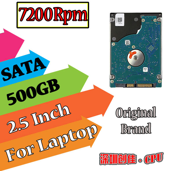 "500 GB 500GB 7200RPM 2.5"" SATA 16MB Internal Hard Disk Drives HDD Screw driver 1 piece free shipping 7200 500g(China (Mainland))"