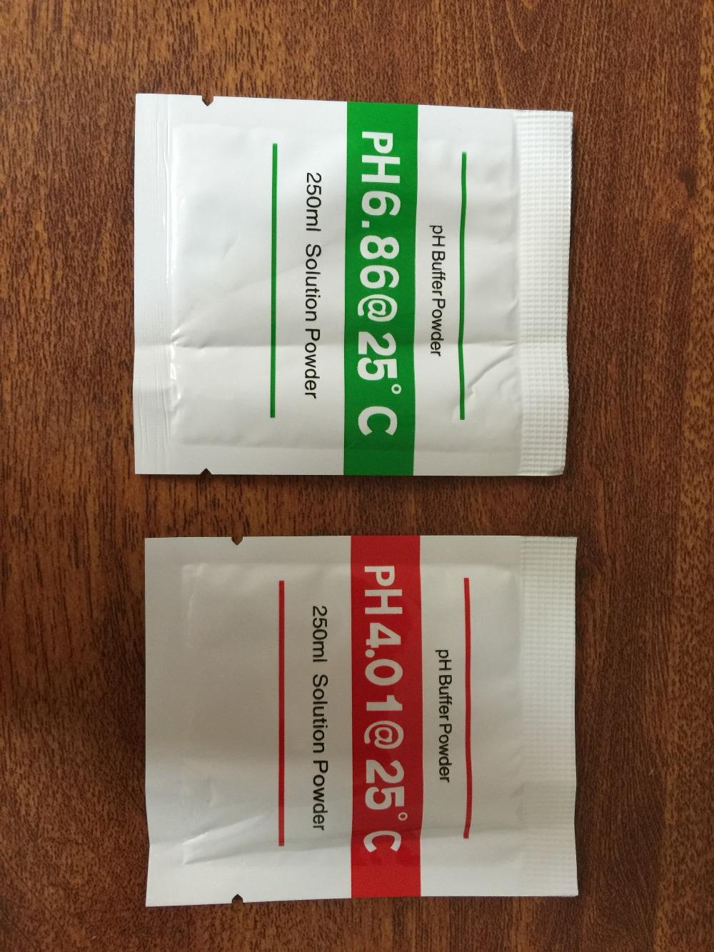 2pcs PH Buffer Powder for PH Test Meter Measure Calibration Solution 4.01 6.86pH