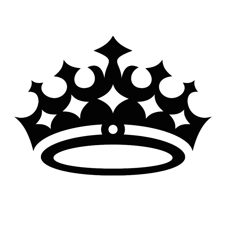 Black Crown Wall Decor : Cheapest wall sticker waterproof queen crown