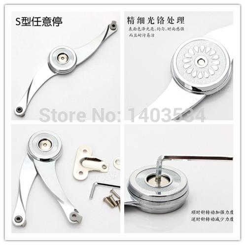 High Quality Arbitrary stop cabinet door support Soft Close Lift Up Stay Support Hinge Damper(China (Mainland))