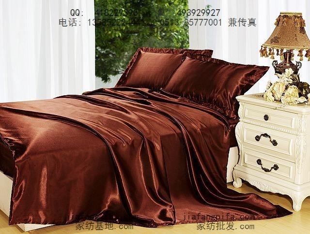 Online kopen Wholesale bruin satijn dekbed uit China bruin satijn dekbed Groothandel