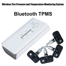 Bluetooth TPMS for Andriod Phone Wireless Tire Pressure Monitoring System Bluetooth tyre pressure 4pcs Internal sensor