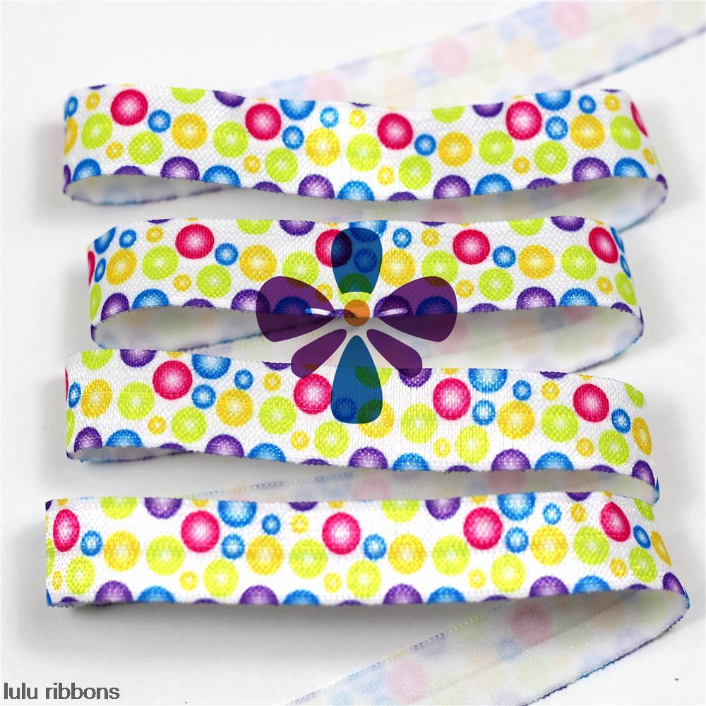 """5/8"""" 10 Yards foe Elastic Ribbon Polka Dot Printed Elastic Band Gift Wrapping HT01-PG022-02054(China (Mainland))"""
