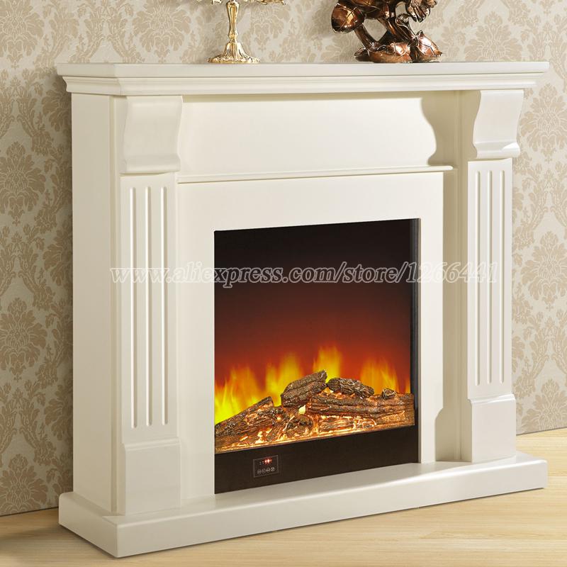 estilo europeo conjunto chimenea repisa de la chimenea de madera wcm quemador chimenea elctrica insertar led de
